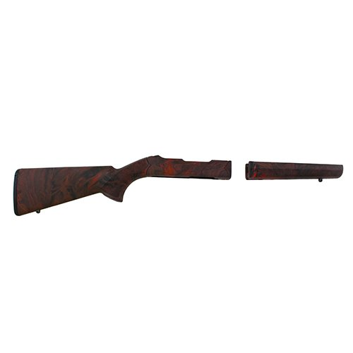 Hogue 21052 10/22 Takedown Thumbhole .920'' Diameter Barrel Rubber OverMolded Stock, Red Lava