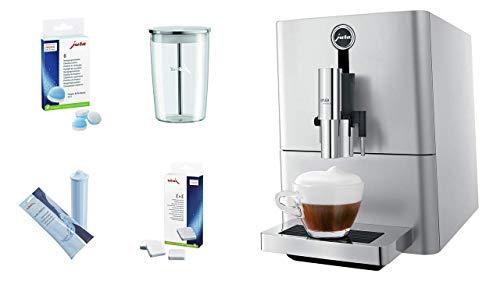Jura 15116 ENA Micro 90 Espresso Machine, Micro Silver, Promotional Bundle.