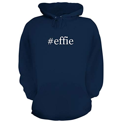 BH Cool Designs #Effie - Graphic Hoodie Sweatshirt, Navy, Large