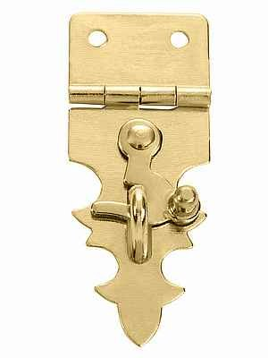 Decorative Hasp with Swing Latch Brass Finish. Screws Included by Wiseacresart
