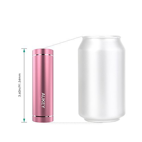 AUKEY micro 5000mAh really moveable Charger External Battery strength Bank using AiPower Adaptive Charging for iPhone 6S 6 6Plus Galaxy S7 S7 Edge Edge Note 5 and extra Pink cellular Accessories