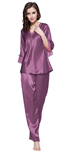 Lilysilk Conjunto de Pijama de Seda De 22 Momme Con Cordones Varios Colores Y Tallas Disponibles