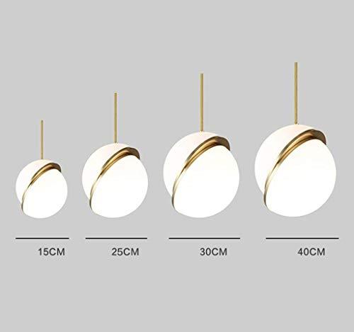 JZX Candelabro Moderno Simple, iluminación de araña de salón en la Cama del Dormitorio del Comedor (Color: Cabeza Blanca...