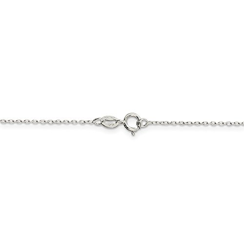 Jewelry Stores Network Sterling Silver 0.6 mm Fancy Cable Chain Necklace - 24 Inch