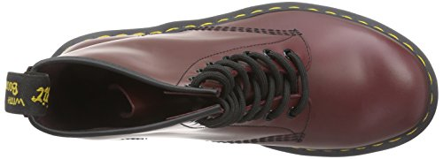 Martens 1460 Adulto Stivali Red Smooth 59 Dr Last Smooth Cherry 1460 Unisex Rosso FXdaqWx