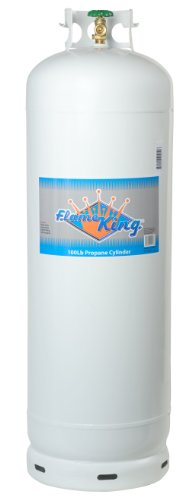 - Flame King YSN-100 100-Pound Steel Propane Cylinder with 10% POL Valve and Collar