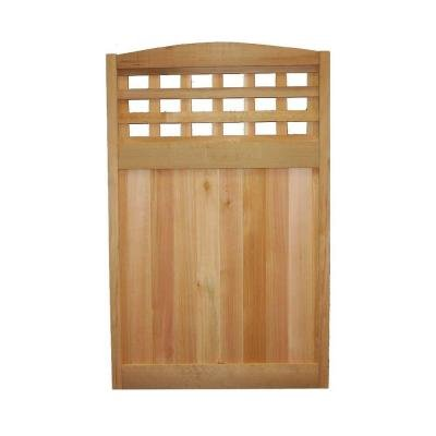 4 ft. H x 2-1/2 ft. W Western Red Cedar Checker Lattice Deluxe Arched Fence Panel