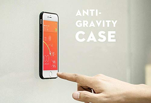 Anti-Gravity iPhone 7 Case (Black) - Nano-Suction Case Will Stick to Glass, Paint, whiteboards, Metal, Kitchen cabinets or Tile and Smooth Flat Surfaces