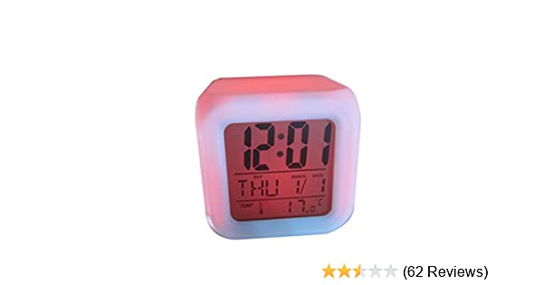 MYT ® Colour Change Digital LCD Alarm Clock Glowing Led with Temperature and Alarm Sleeping Function