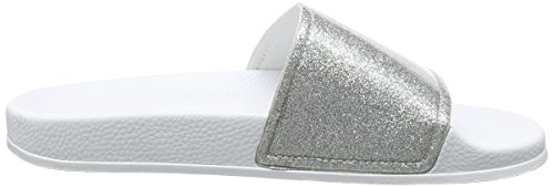 Slydes Champagne F - Sandalias Mujer White (Silver)