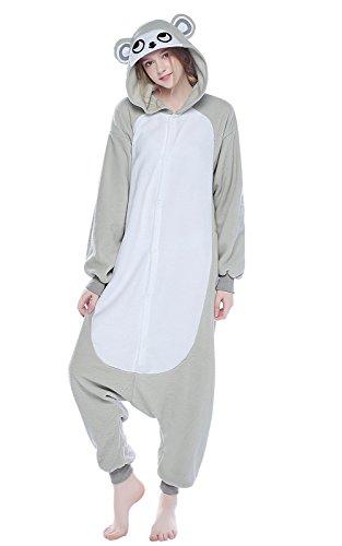 Grey Monkey Costume - NEWCOSPLAY Unisex Walrus Sleepsuit Onesies Pajamas