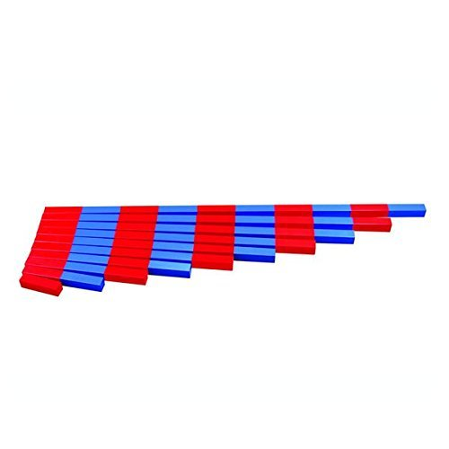 Montessori Math Materials Numerical Rods for Preschool Early Learning Tool