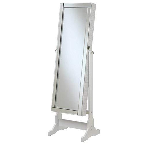 Coaster Home Furnishings Jewelry Cheval Mirror with Interior Storage White