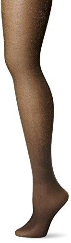Via Spiga Women's Soft Shimmer Sheer Light Support Tight, Black, (Black Shimmer Tights)