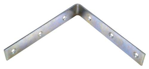 Bulk Hardware BH00160 Bright Zinc Plated Corner Braces Brackets Plates, 150 mm/6 inch - Pack of 10 Bulk Hardware Ltd
