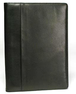 Bosca Zipper Portfolio In Black - Nappa Vitello by Bosca
