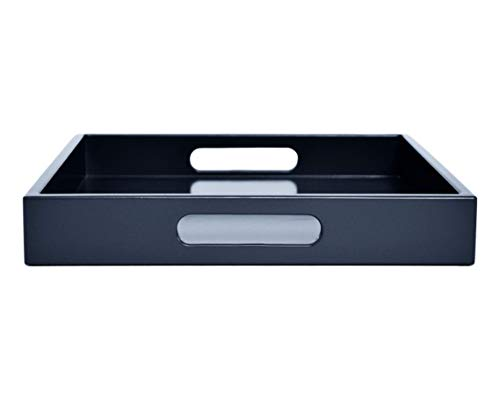 Dark Navy Blue Ottoman Coffee Table Serving Tray with Handles Medium to - Mirrors Bathroom Blue Brass Navy