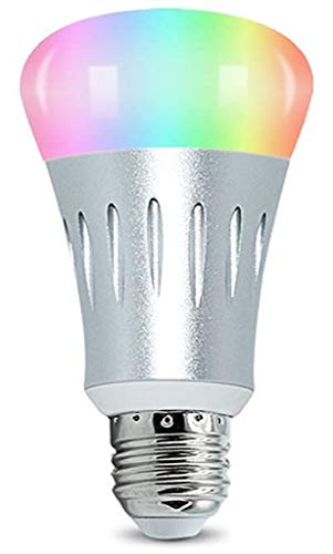Smart LED Light Bulb Compatible with Alexa and Google Home,No Hub Required, E27 Smart WiFi Bulb RGB Multi Color Dimmable Daylight Night Light, Timer App Remote Control with Your Smartphone