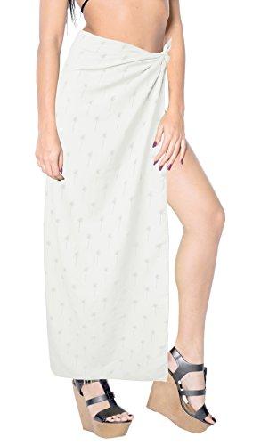 4e140f784939 La Leela Frauen Rayon Bikini skrirt Wrap Glatt Strandbadebekleidung  Badeanzug des Sarong Sahne 3520 QI1xaU9nQ