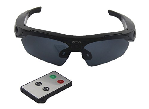 JOYCAM Sunglasses with Camera Video Recording Polarized Glasses HD 720P Wearable Sports Action Camcorder with Remote - Video Remote Sunglasses With