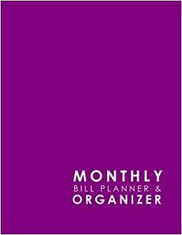 Monthly Bill Planner Organizer Bill Paying Ledger Household