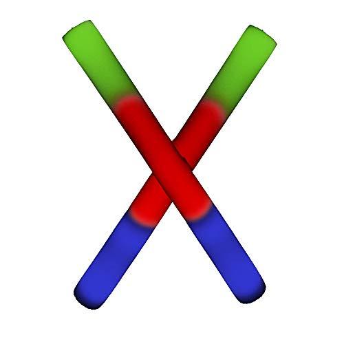 D Foam Stick Baton Supreme - Multicolor - 12 Pack ()