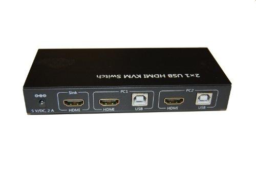 Zagall 2x1 USB HDMI KVM Switch by Zagall