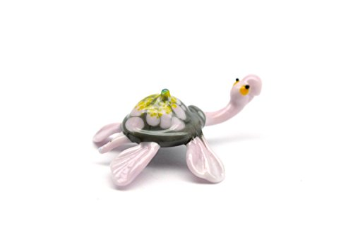 Blown Glass Turtle Miniature Fused Turtles Unique Handblown Lampwork Sea Collectible Art Figurine Gift Murano Boro Glass Lampwork Toy