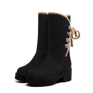 NVXUEZIX Damen Schuhe Kunstleder Winter Komfort Stiefel Stiefel Stiefel Runde Zehe Stiefelies Stiefeletten Für Kleid Party & Festivität Schwarz Beige Gelb, us8   eu39   uk6   cn39 dbe489