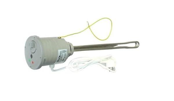 Calentador de 1500 W 230 V con termostato de radiador de calefacción 3.81 cm: Amazon.es: Iluminación