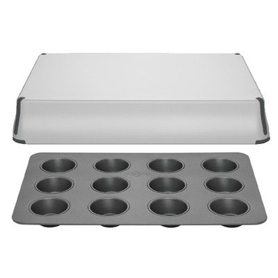 PrepCo Bake Porter 12 Cup in Grey with Sheet Pan