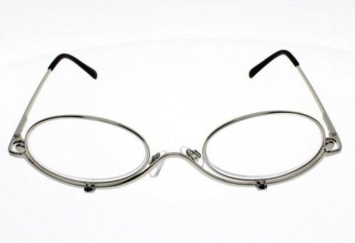 Brille Schminkbrille 2003/8silber Damen-Lupe: + 2.5
