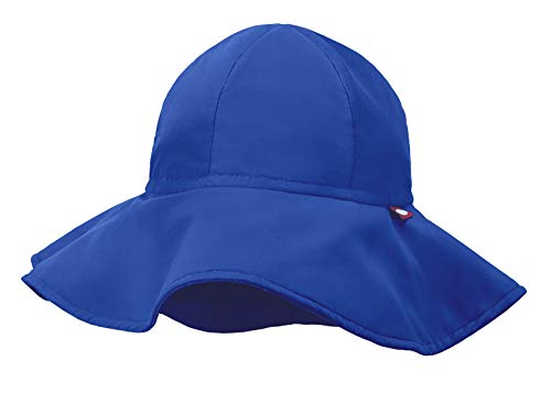 City Threads Swimmig Hat for Boys and Girls, Swim Hat Bucket Floppy Hat with SPF Sun Protection SPF for Beach Summer Pool, Smurf, L -