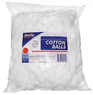 Cotton Balls, Non-sterile, Medium, 2000 Cotton Balls Per Bag, 2 Bags Per Case.