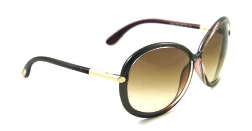 018a55ec97 Amazon.com  Tom Ford Women s 0162 Clothilde Metalized Grey   Gold Details  Frame Brown Gradient Lens Plastic Sunglasses  Clothing