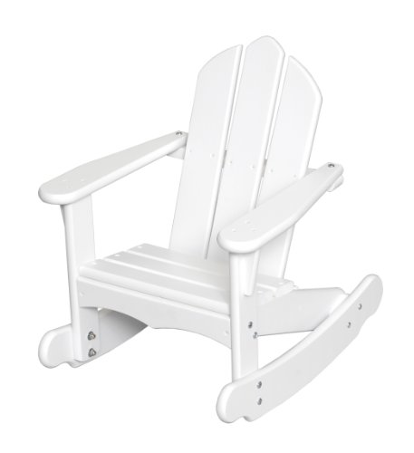 Little Colorado Personalized Child's Adirondack Rocking Chair- White by Little Colorado