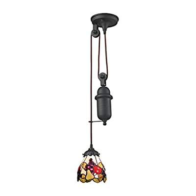 Elk Lighting 081-TB-19 Ceiling-Pendant-fixtures, Bronze