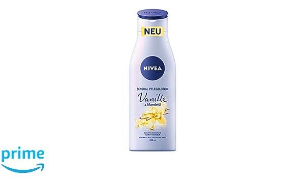 Loción de cuidado Nivea con vainilla y aceite de almendras, 4 unidades (200 ml).: Amazon.es: Belleza