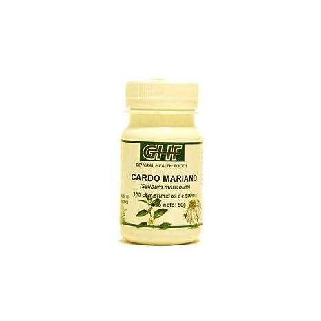 Cardo Mariano 100 comprimidos de 500 mg de Ghf: Amazon.es: Salud y cuidado personal