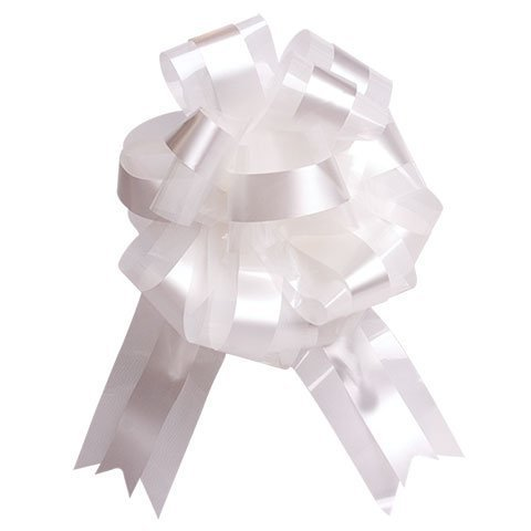 - White Tulle Wedding Ceremony Pull Bows for Church Pews - 9
