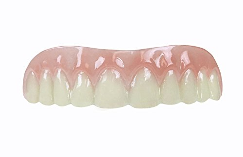 Professional Cosmetic Upper - New from Instant Smile! Hand crafted detail, custom fit at home! Works Best in Medium to Large Sized Mouths. - Cosmetic Teeth