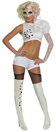 Rubies Womens Lady Gaga 09 Vma With Outfit Rock Star Halloween Themed Costume, S (6-10)