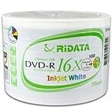 600 Ritek Ridata 16X DVD-R 4.7GB White Inkjet Hub Printable