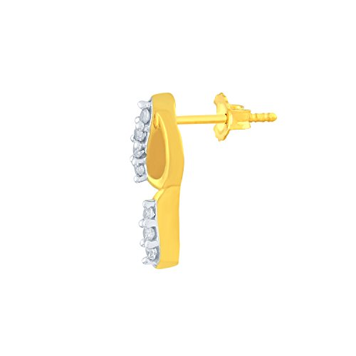 Giantti 14carats Diamant pour femme Dangler Boucles d'oreilles (0.1222CT, VS/Si-clarity, Gh-colour)