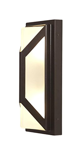 Nyami – 2-Light Wet Location Wall Fixture – Bronze Finish – Frosted Glass Shade
