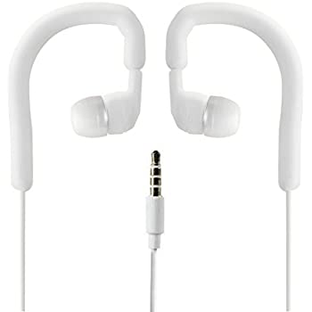 Pyle PWPE10W Marine Sport Waterproof In-Ear Earbud Stereo Headphones for iPod/iPhone/MP3 Player (White)