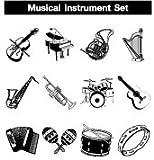 Musical Instrument Rubber Stamp Creation Set 12pcs.