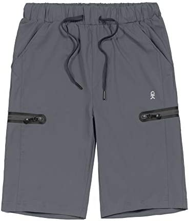 Little Donkey Andy Women's Ultra-Stretch Quick Dry Lightweight Bermuda Shorts Drawstring Zipper Pocket Hiking Travel Workout