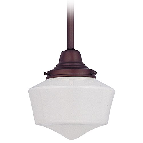 6-Inch Schoolhouse Mini-Pendant Light in Bronze -