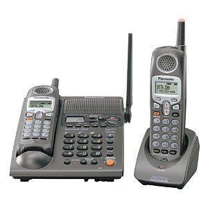 2.4 Ghz Dual Handset - Panasonic KX-TG2357PK 2.4 GHz DSS Cordless Phone with Dual Handsets, Answering System, and Talking Caller ID (Silver) with Bonus Headset Included